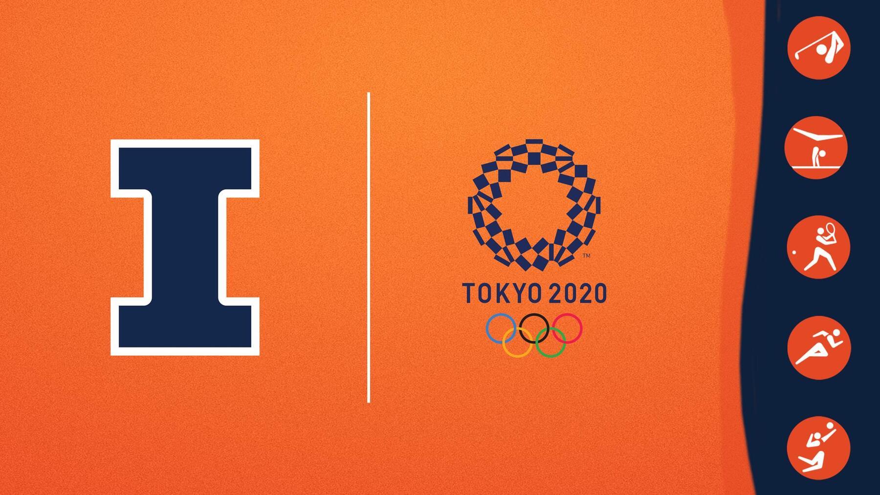 graphic using U of I and Tokyo Olympics logos