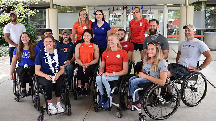some of the Illini Paralympians preparing to leave for Tokyo