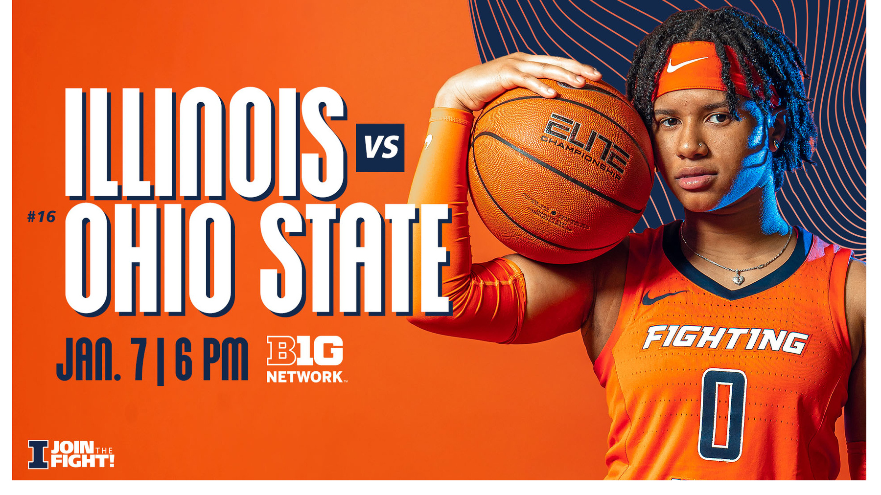 junior guard J-Naya Ephraim feature in game preview graphic