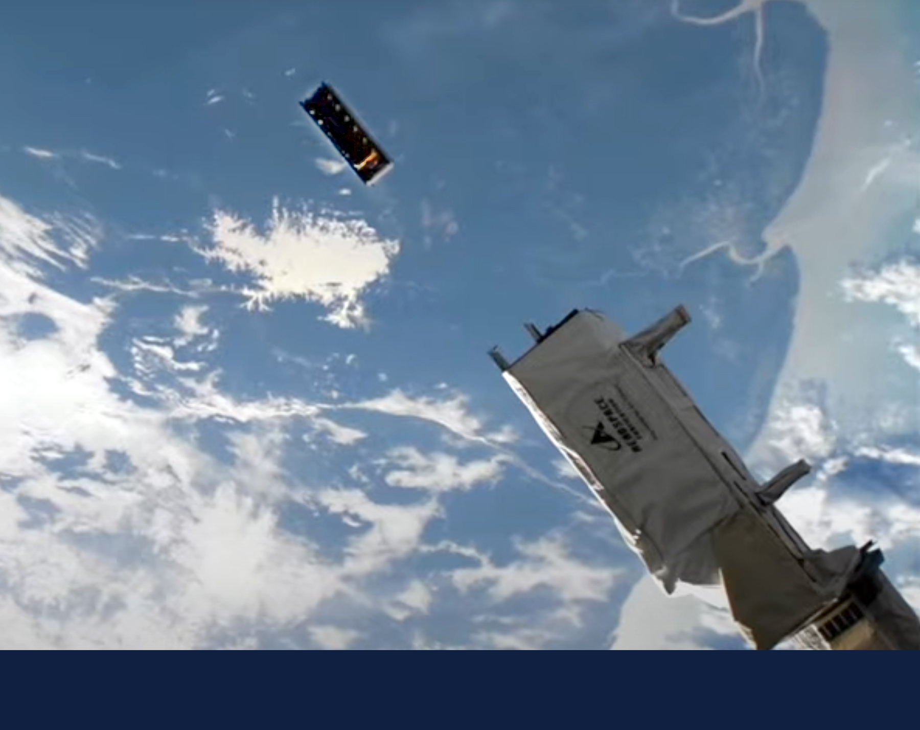 CAPSat is deployed into orbit by robotic arm from the International Space Station on October 12, 2021 . Photo courtesy NASA/ISS