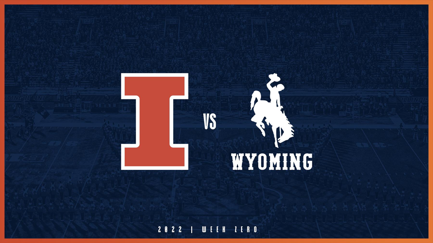 graphic uses school logos, Illinois vs. Wyoming