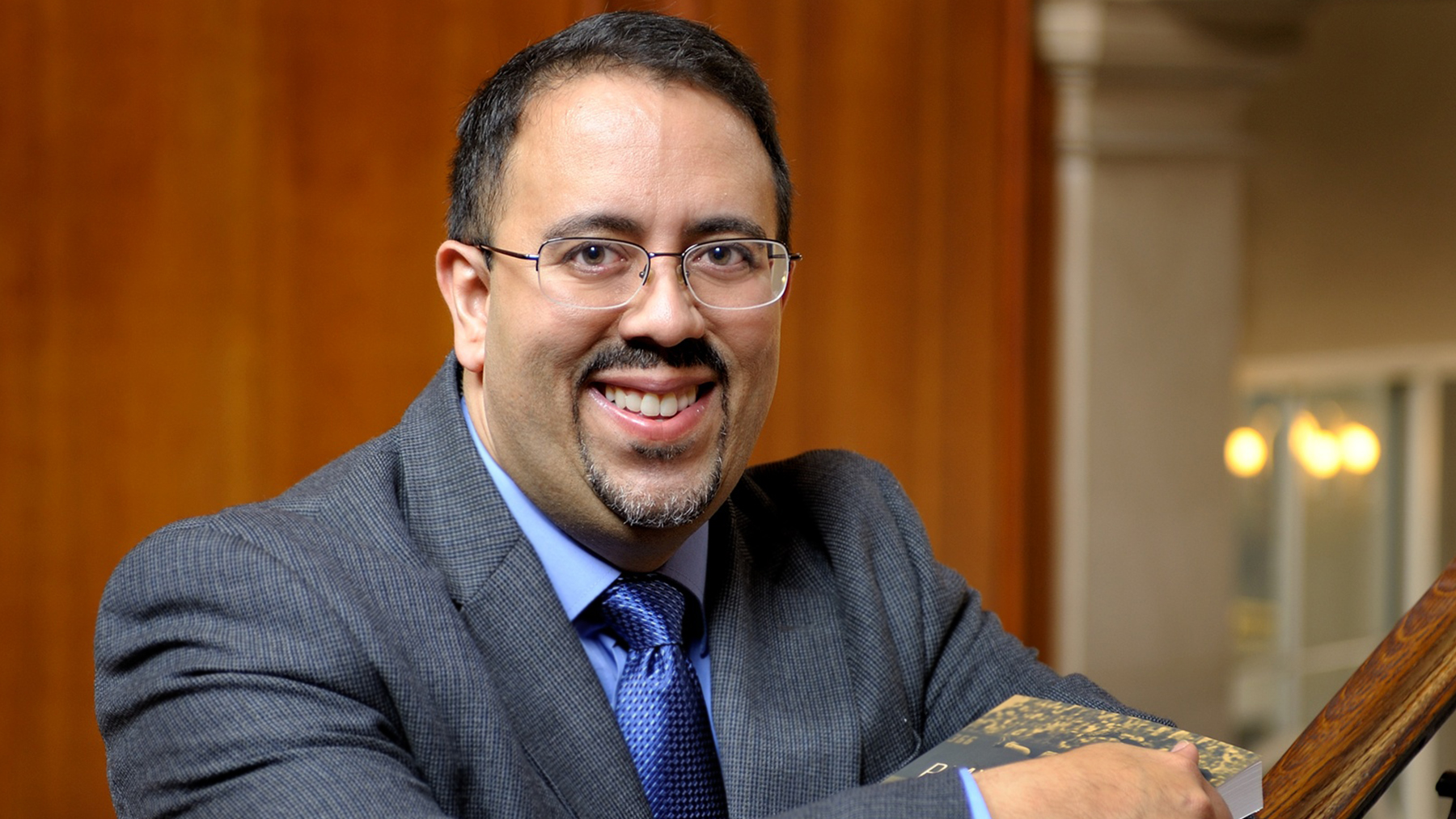 Illinois history professor Adrian Burgos Jr. specializes in the history of sports, in particular the role of Latinos and African Americans.  Photo by Jerry Thompson