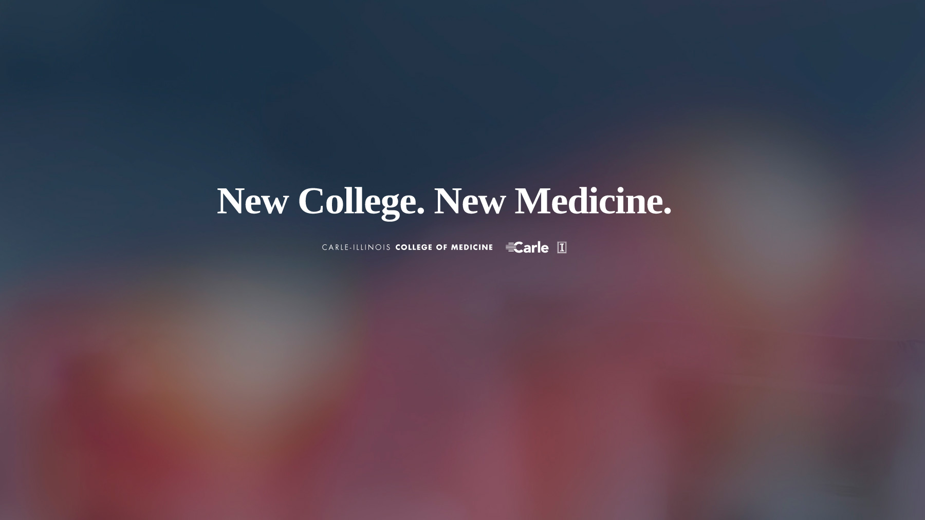 banner announcing new college of medicine