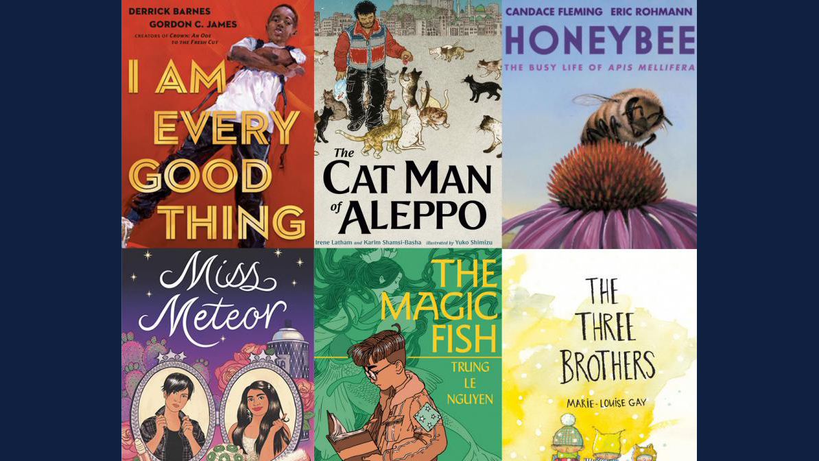 sampling of covers of the 2020 Blue Ribbon books