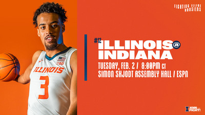 redshirt junior Jacob Grandison featured on the graphic promoting Illinois vs. Indiana matchup