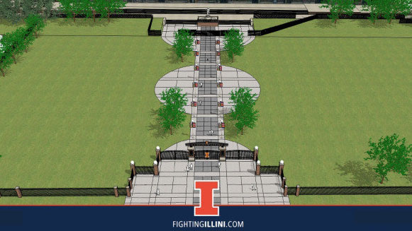 architect's drawing of proposed new tailgate area