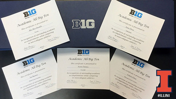 image of academic big ten certificates