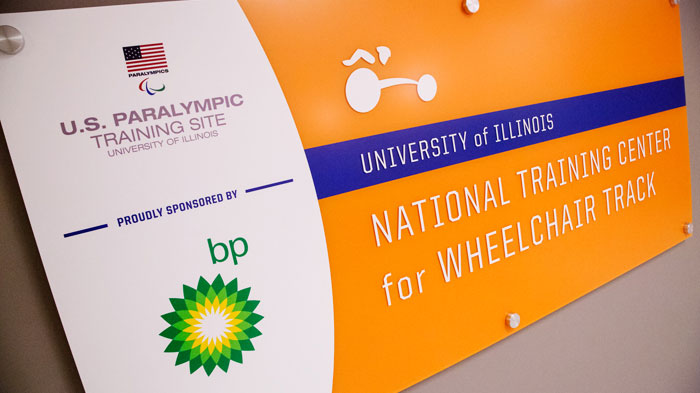 The U. of I. facility for wheelchair track and road racing was designated as a U.S. Paralympic training site in 2014.