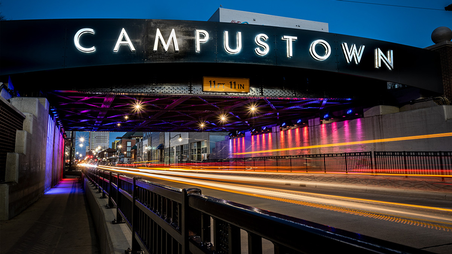 'campustown' signage on Green Street