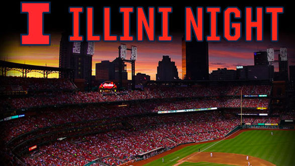 banner image for illini night with image of busch stadium