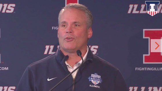 image of illini football coach tim beckman