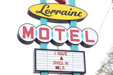 image of signage from the lorraine motel