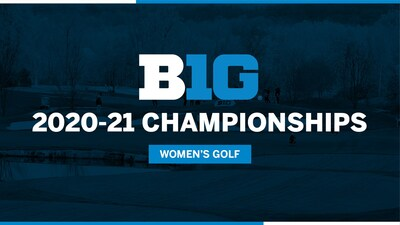"text-only graphic reads ""B1G 2020-21 Championship - Women's Golf"""