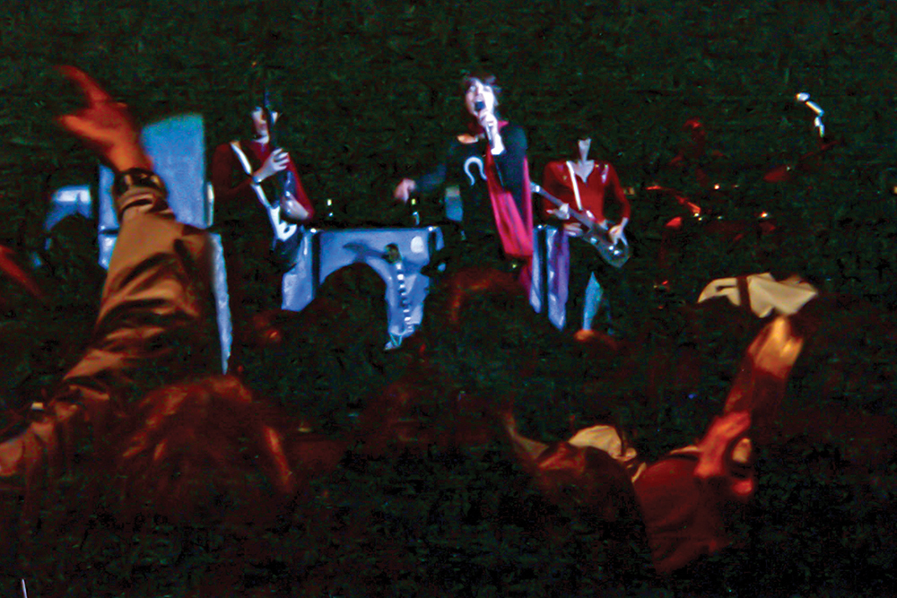 the Rolling Stones play the 'Assembly Hall' in 1969. Photo by Richard Parry