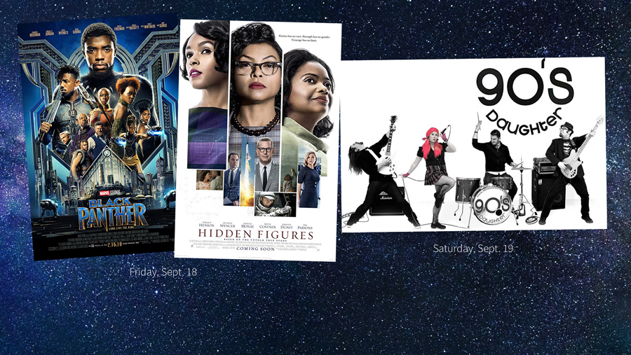 banner image shows covers of movies and band for September 18 and 19
