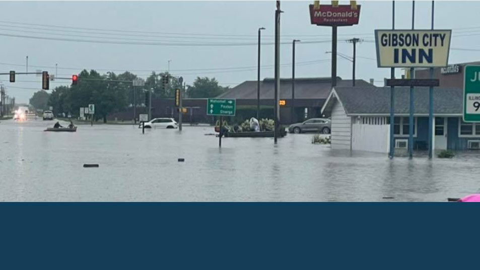 flooded Gibson City