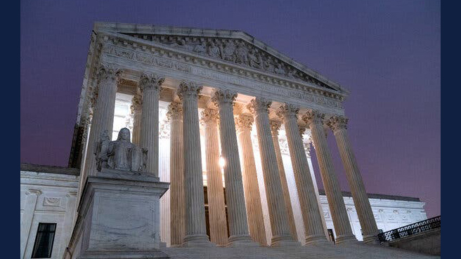 Supreme Court Building. Photo by Stefani Reynolds for Getty Images