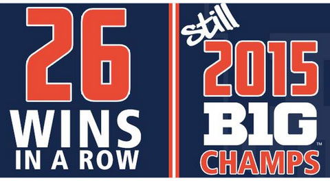 banner image for winning streak and big ten championship