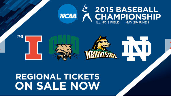 banner ad for ncaa regional baseball games at illinois