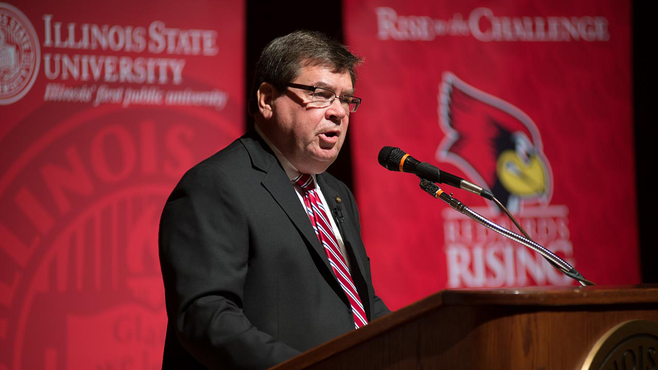 Illinois State University President Larry Dietz.
