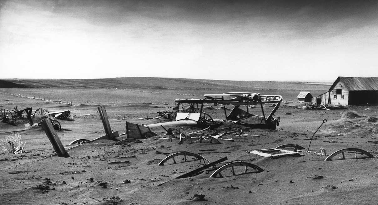public domain photo of 1930s dust bowl in the U.S.,