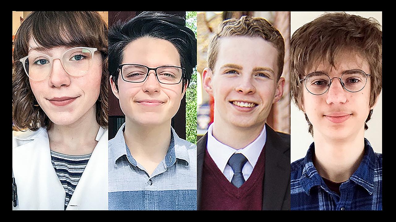 Students Emmarie Alexander, Marta Cortinovis, Evan Dray and Ariel Lerman.  Photos provided