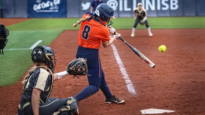 Delaney Rummell bats against Purdue