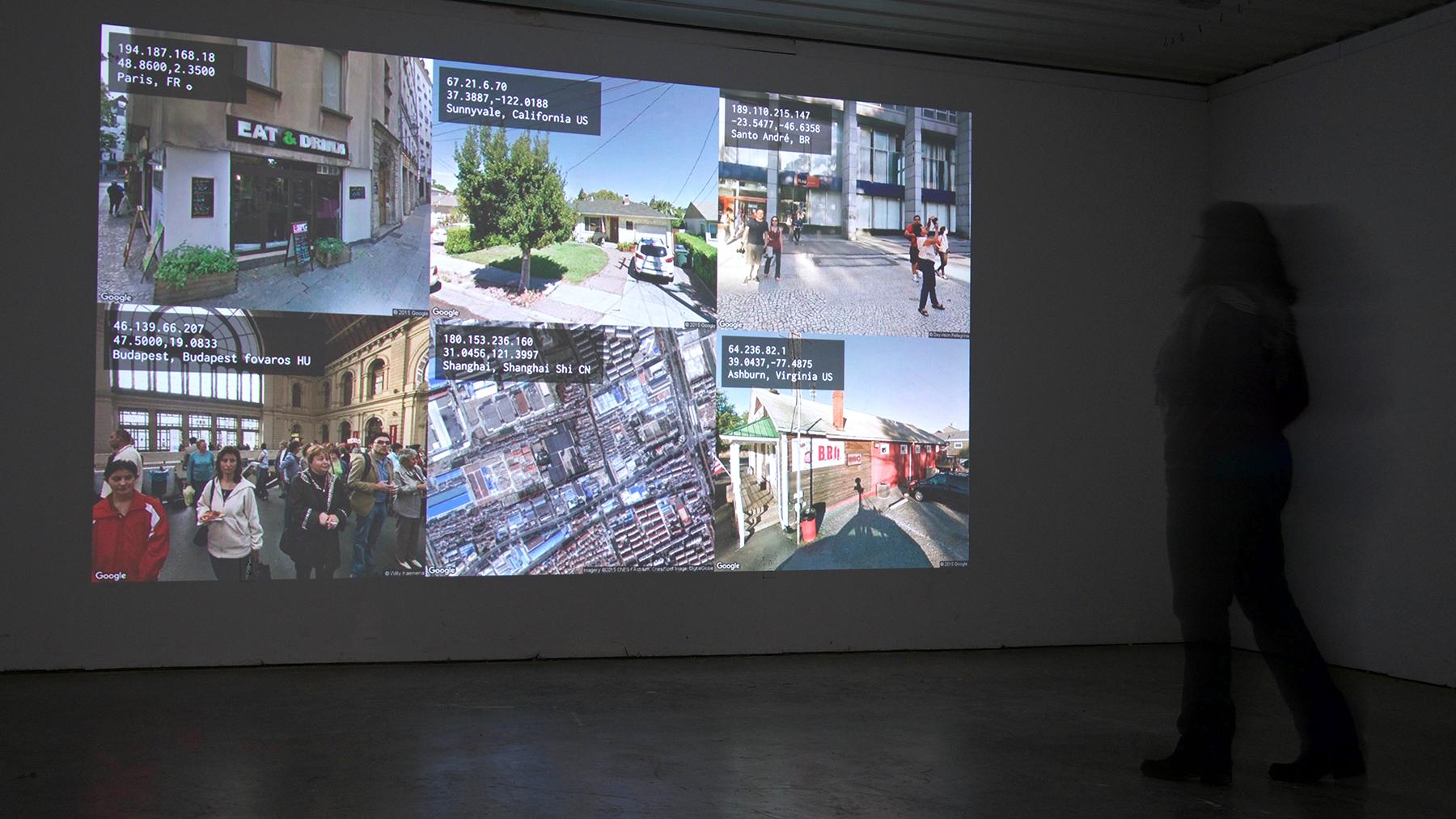 screenshot of Grosser's work, 'Tracing you'