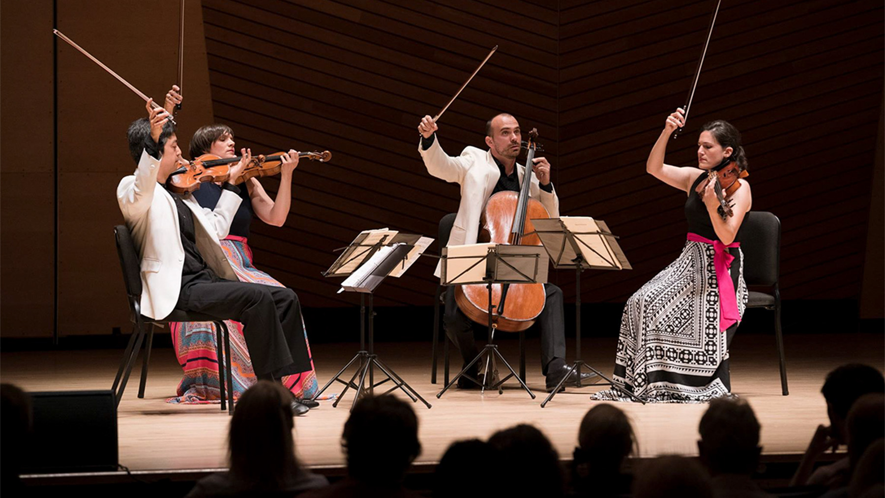 """""""Chaconne/Labyrinth,"""" reflects the experience of living during a pandemic. The piece will have its world premiere April 3 with a virtual performance by the Jupiter String Quartet (pictured performing)"""
