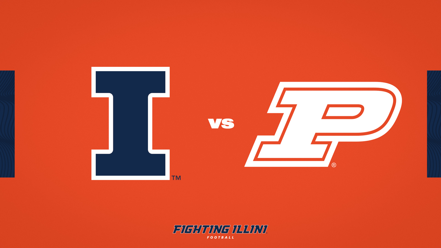 orange and blue graphic - Illinois vs. Purdue