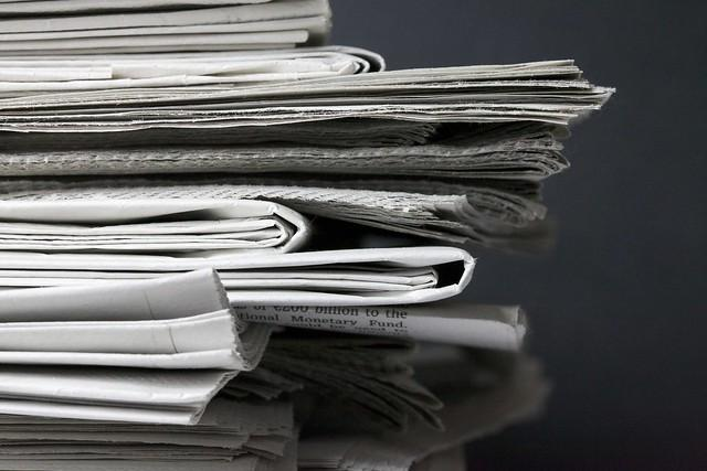 Newspapers. Photo by Jeff Eaton via Flickr