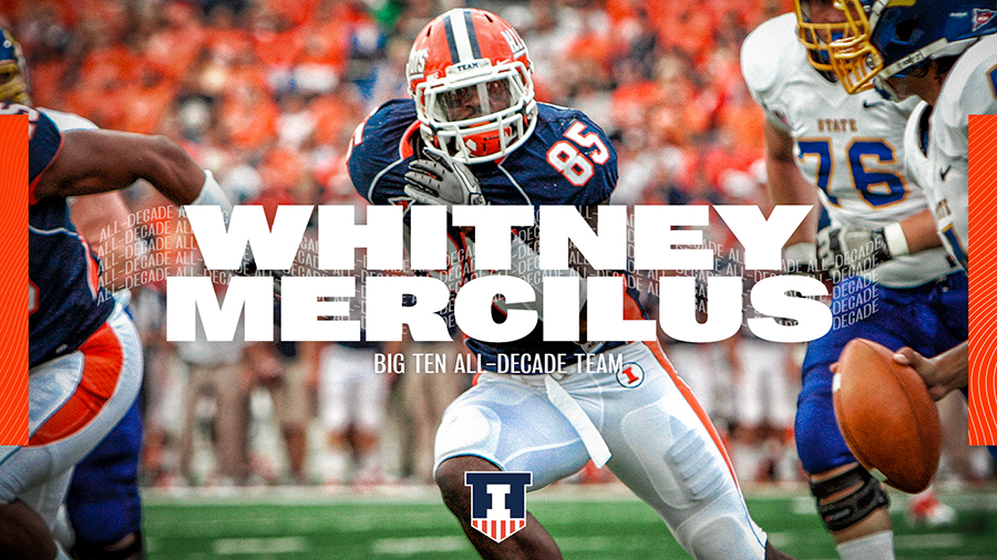 Whitney Mercilus eyes a moving quarterback as an Illini