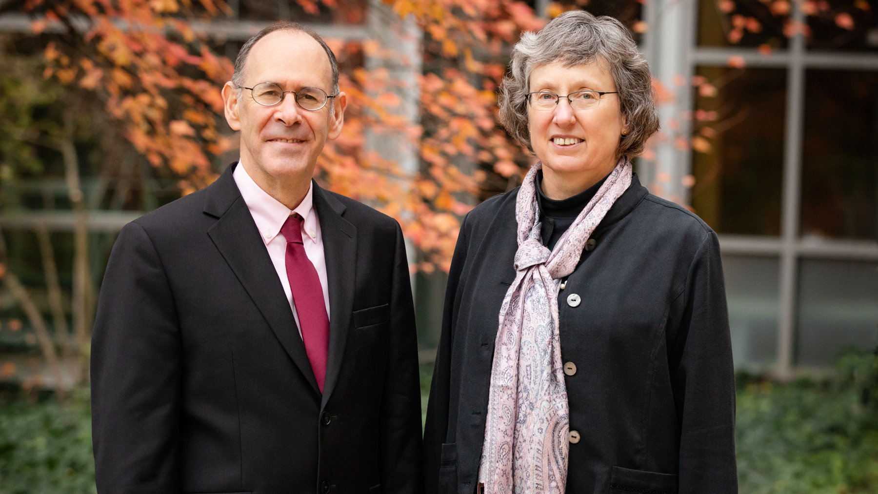 computer science professor Sheldon H. Jacobson and internal medicine professor Janet Jokela.  Photo by L. Brian Stauffer