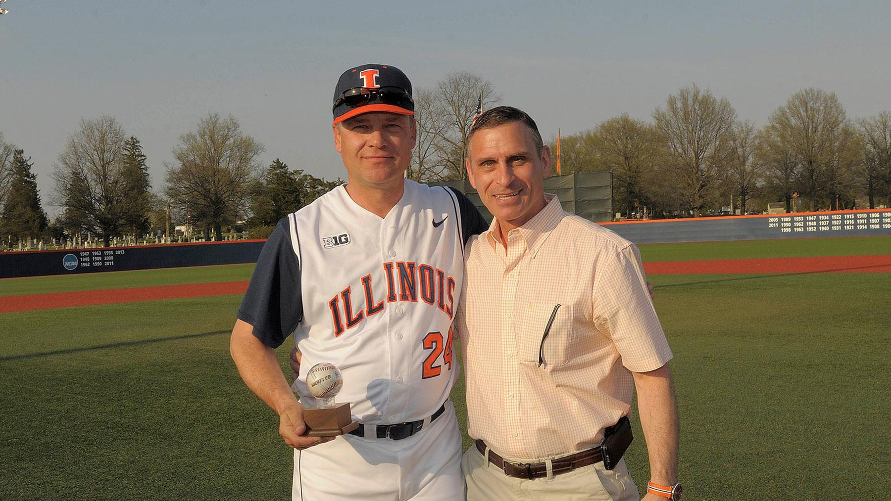 image of baseball coach dan hartleb and athletic director mike thomas