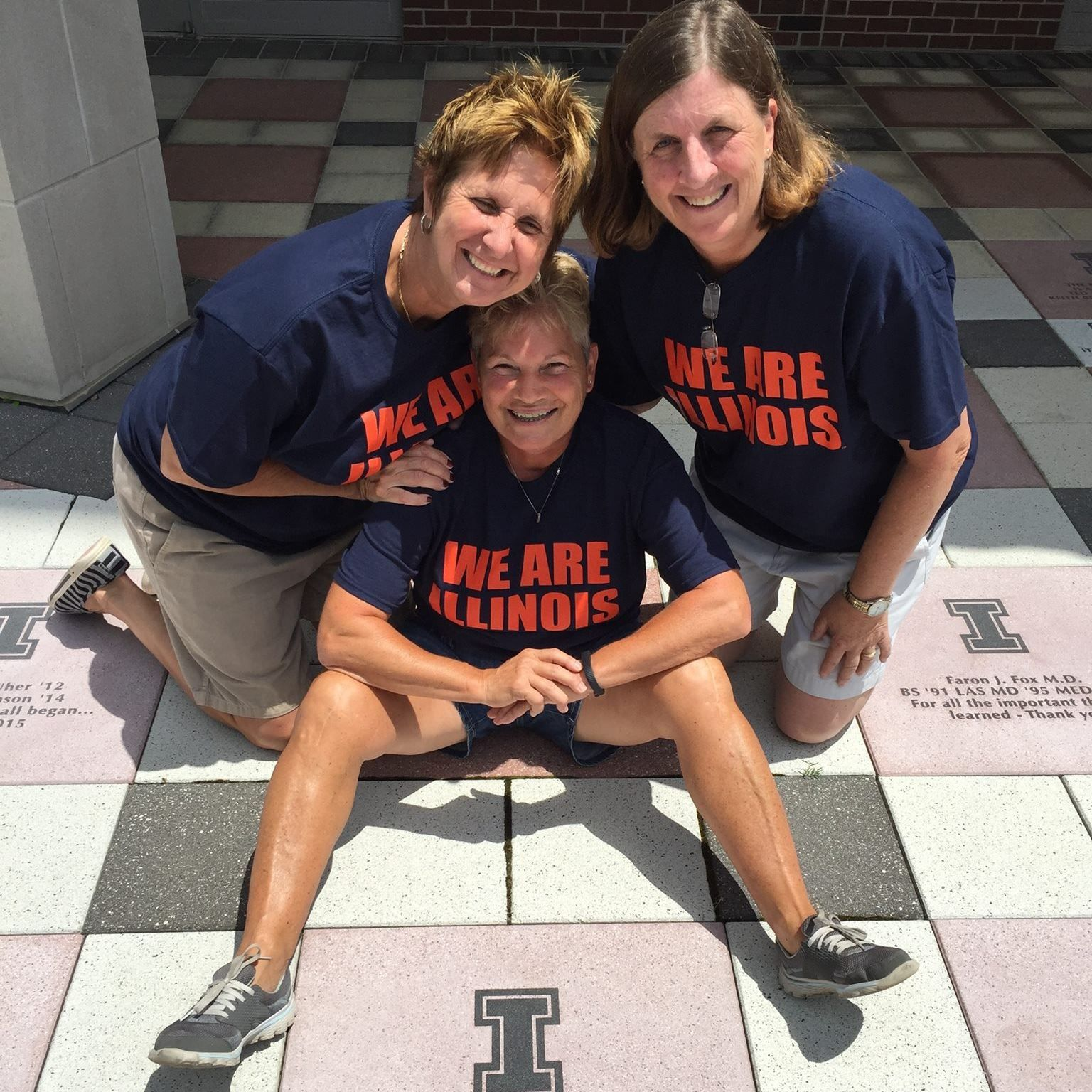 Image of former women's basketball players Marijo Dluzak (BA, 77 LAS), Susan Bonner (BS, 79 ALS), and Becky Beach (BS, 82 ALS)
