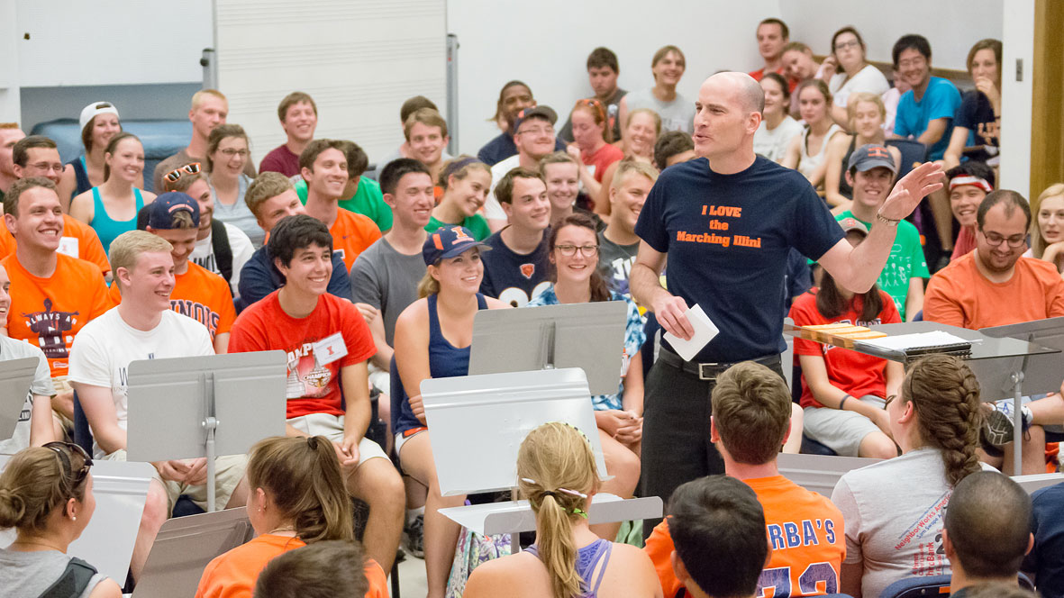 image from a meeting of the marching illini