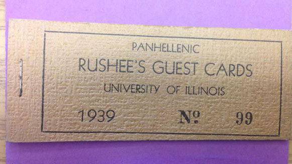 image of a 1939 rushee guest card