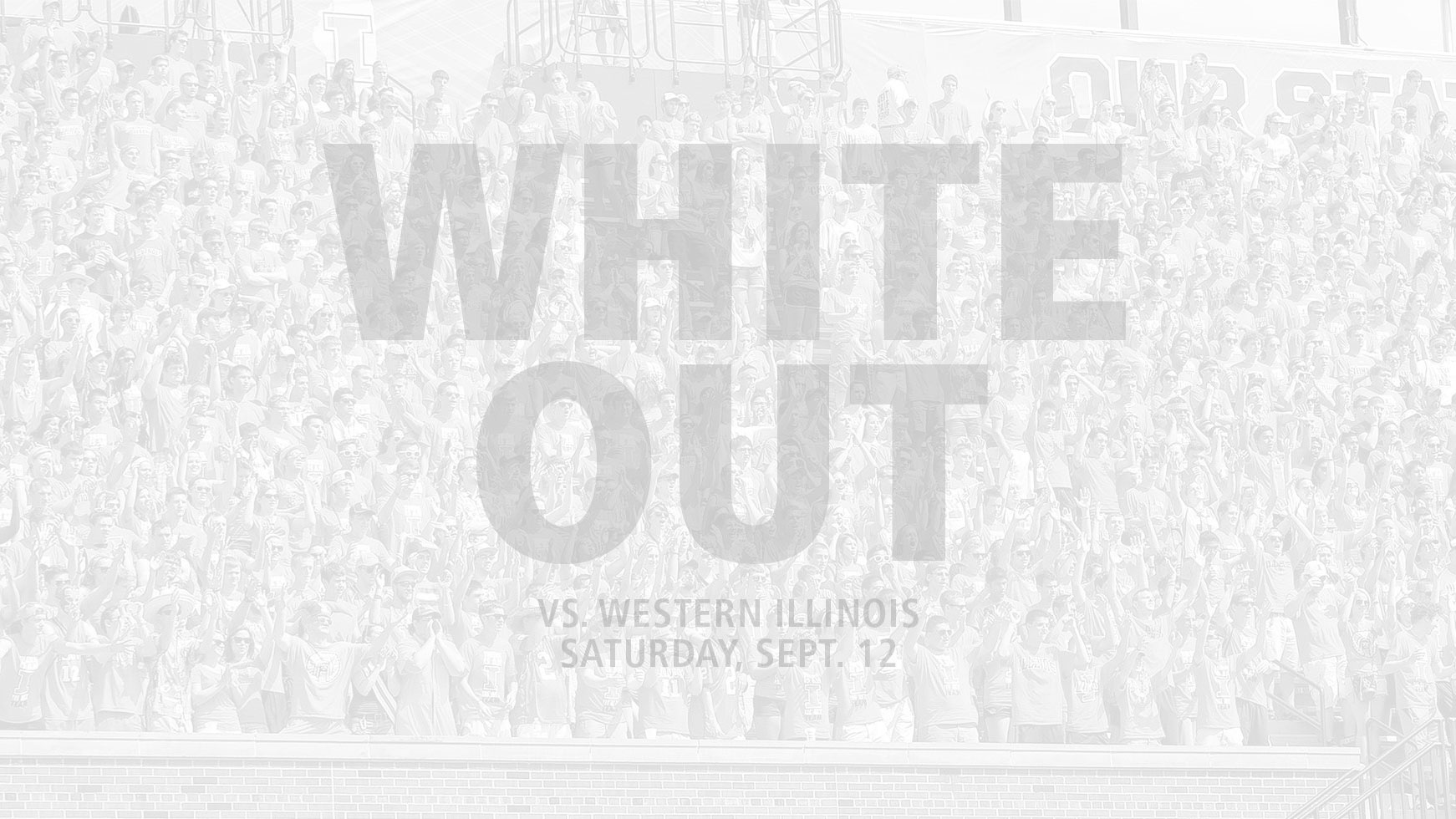graphic image for the 'white out' promotion