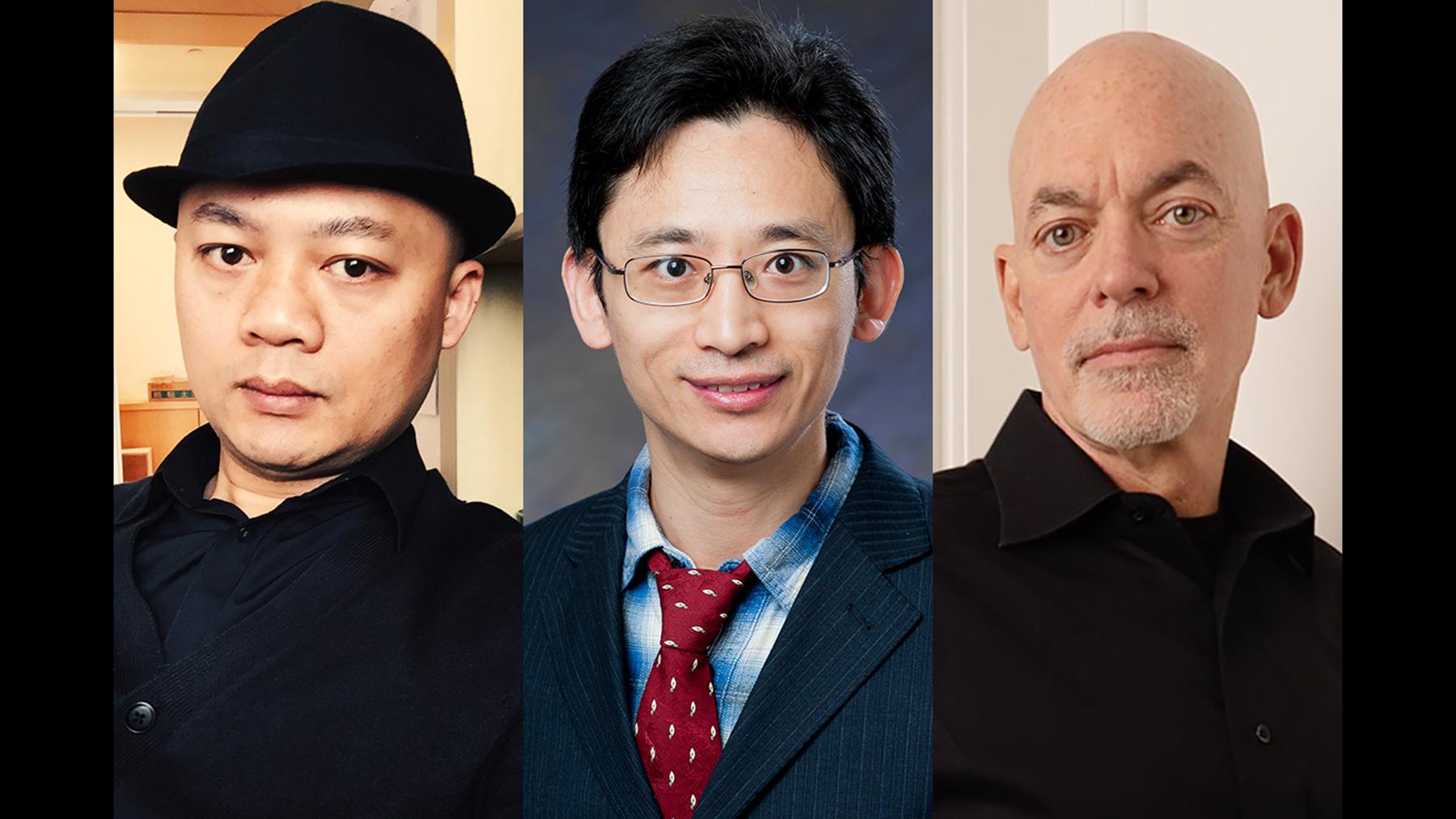 researchers Bin Jiang, Yi Lu and William Sullivan. Photos courtesy of subjects
