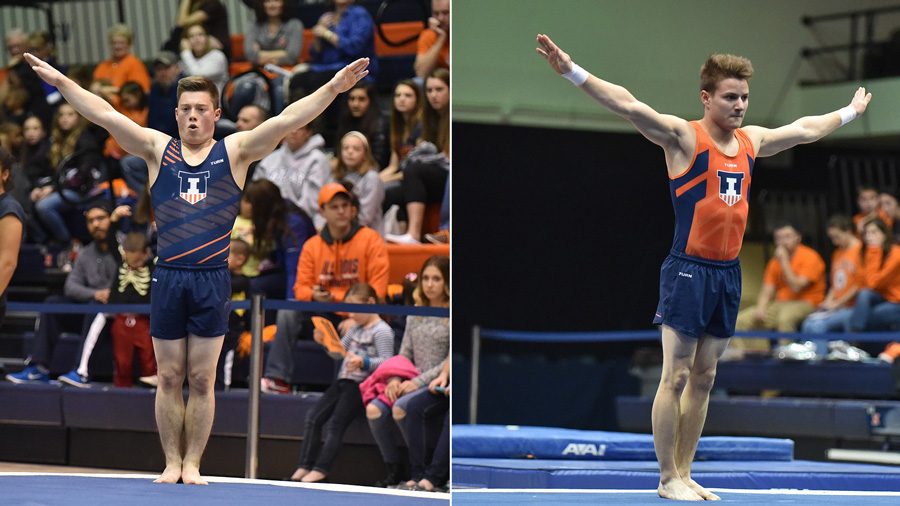 image of gymnasts Bobby Baker and Alex Diab