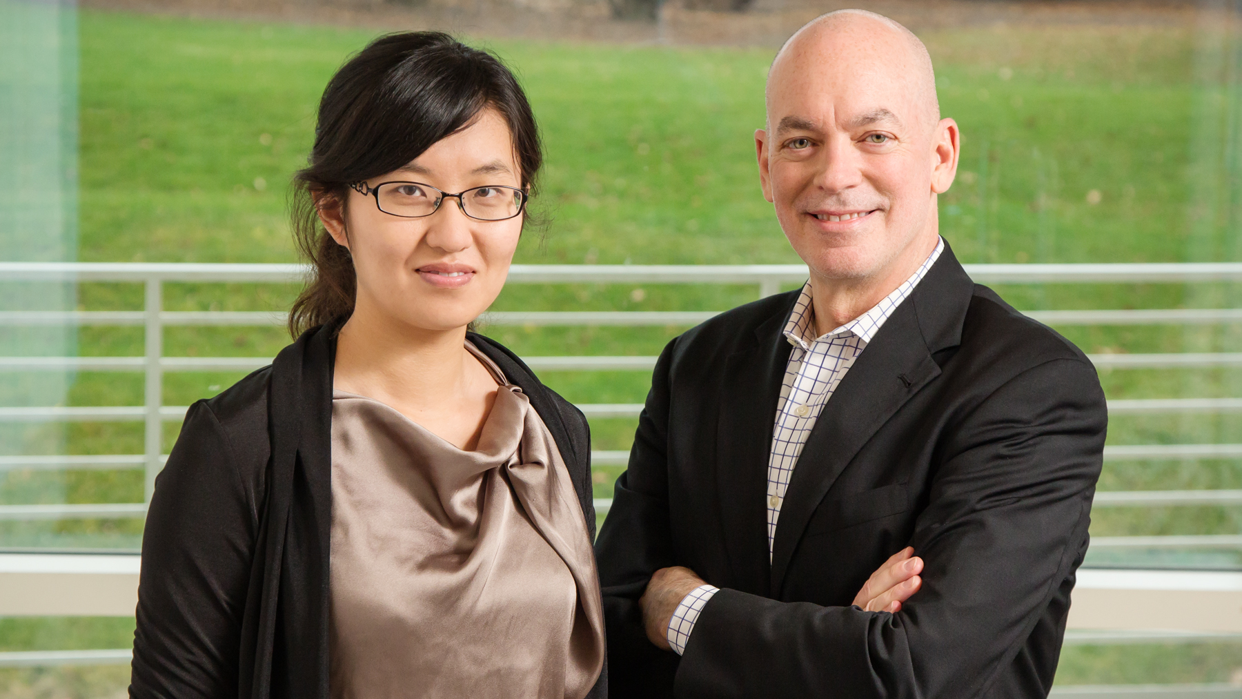 image of graduate student Dongying Li and Professor William Sullivan, by L. Brian Stauffer