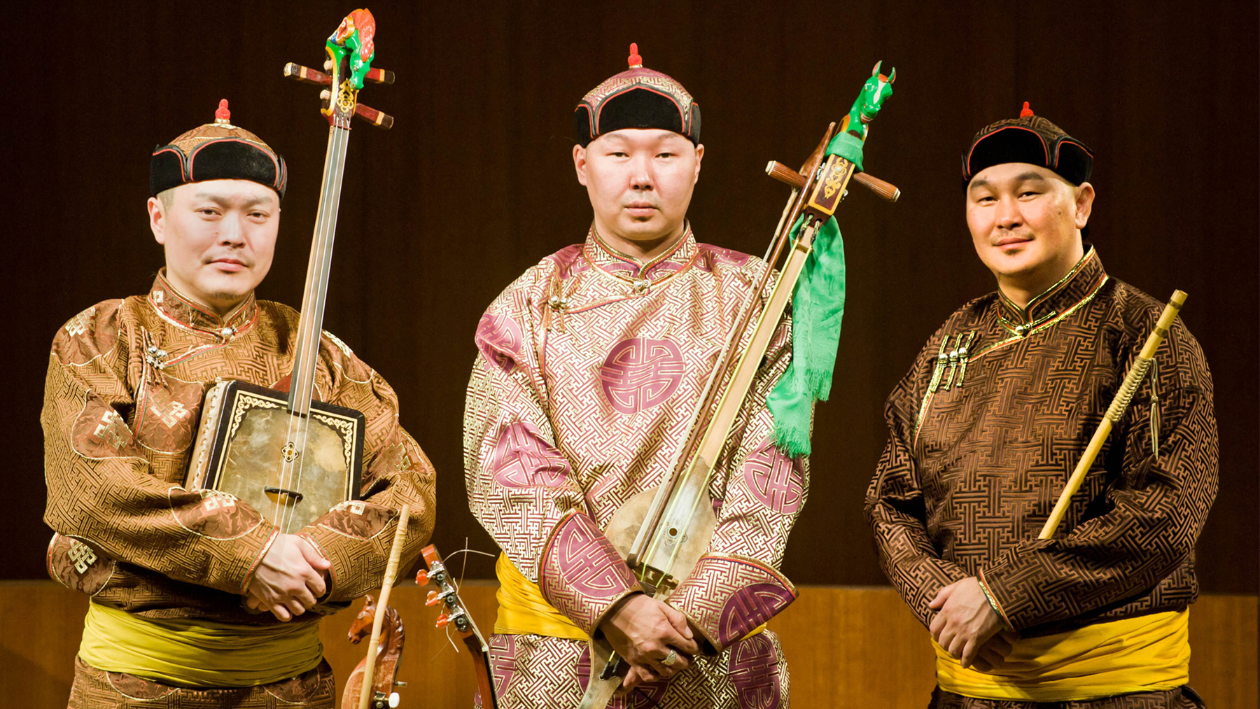 Photo of Alash, a trio of throat singers from Tuva.  Photo by Nicole Renee Photography