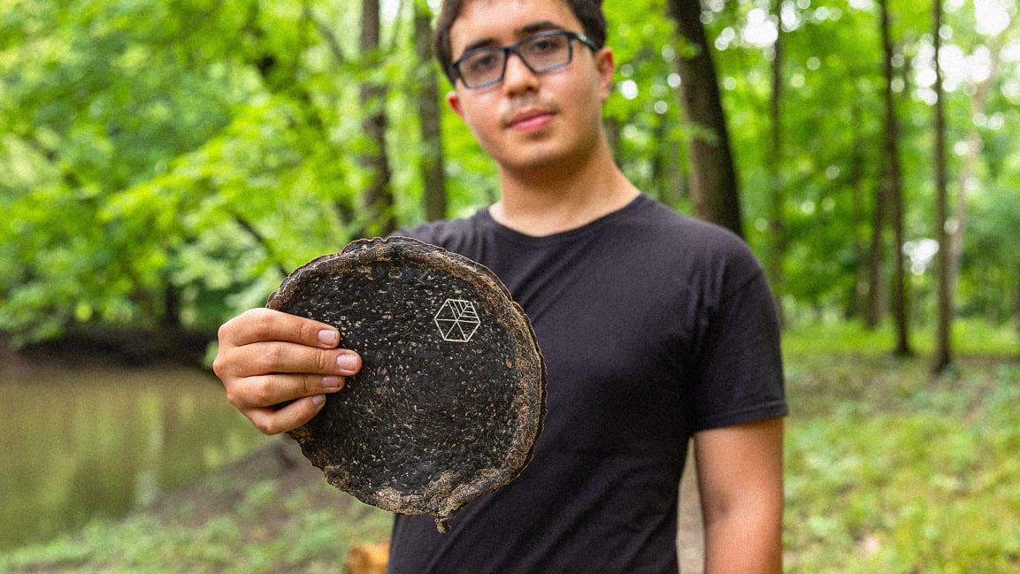 U of I student Gabe Tavas, founder of Symmetry, which makes the innovative wood alternative Pyrus.
