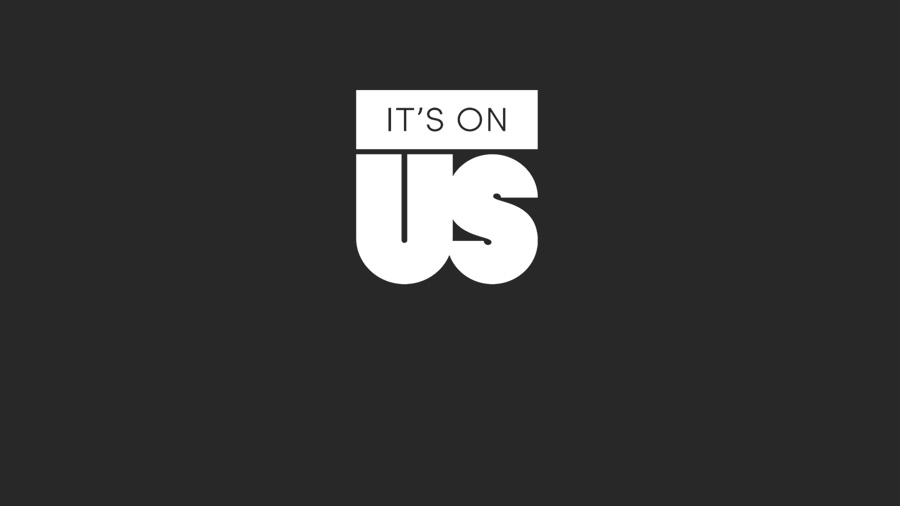 logo for the It's On Us campaign to raise awareness of sexual violence