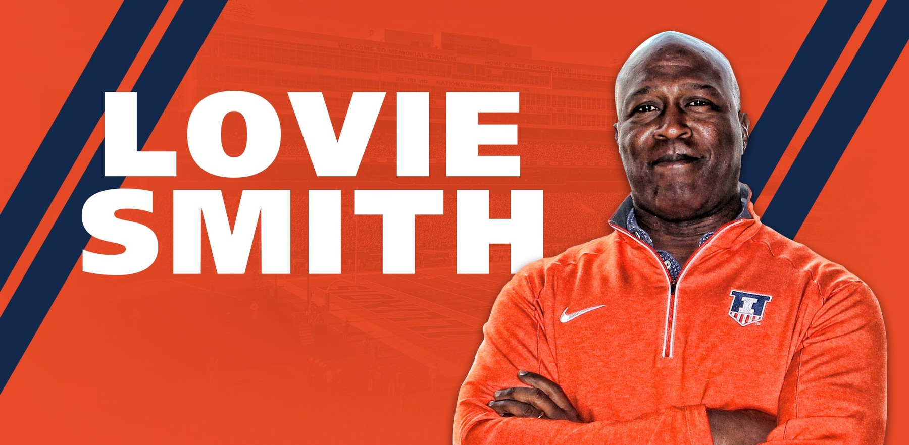graphic image showing coach Lovie Smith