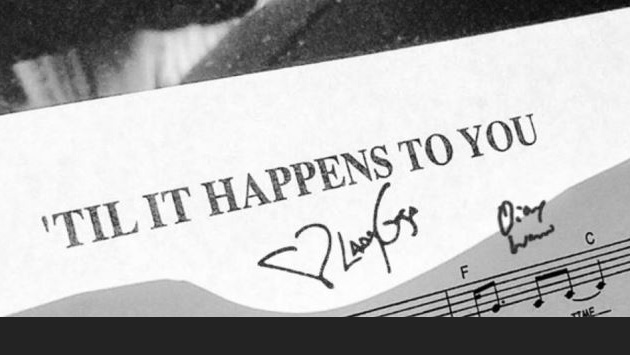 """image of sheet music for """"If It Happened To You,"""" by Lady Gaga"""