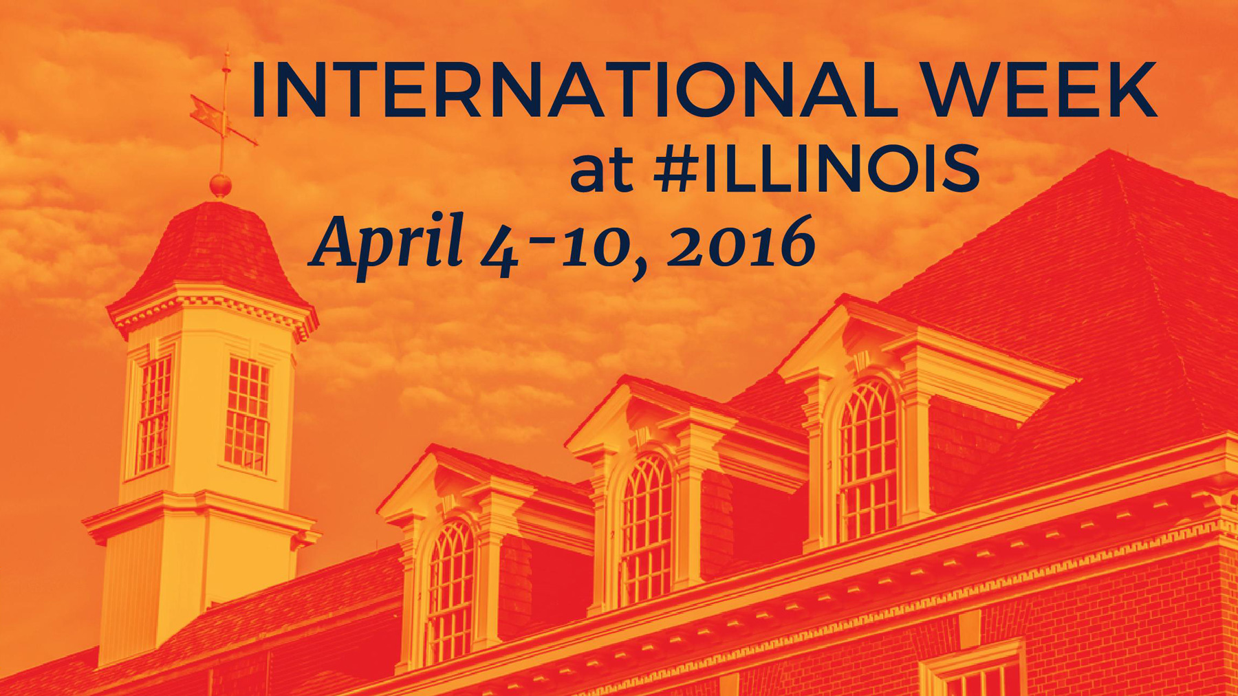 graphic illustration for International Week at Illinois