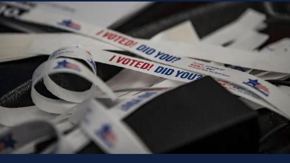 'I Voted. Did you?' bracelets