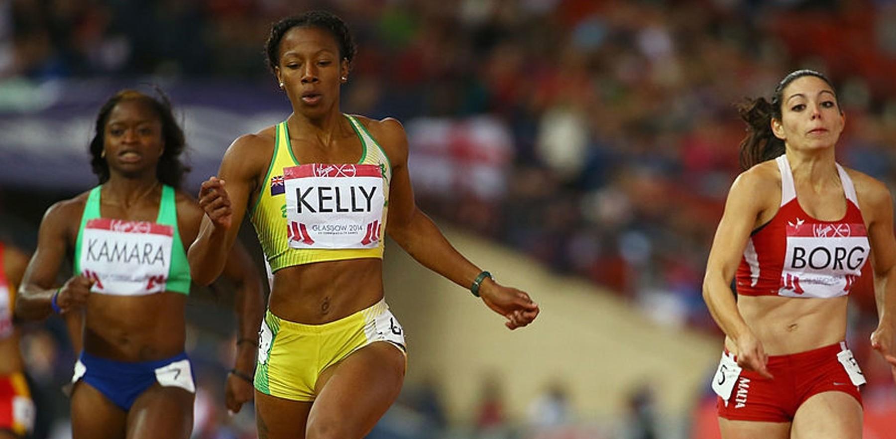 image of sprinter Ashley Kelly