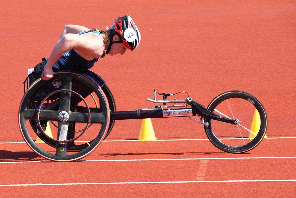 file photo of wheelchair racer Tatyana McFadden via Wiki Commons